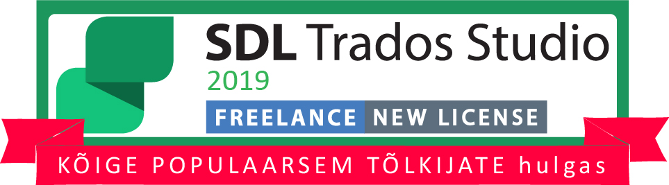 sdl trados studio 2019 freelance new license eesti