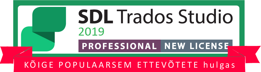 sdl trados studio 2019 professional new license eesti